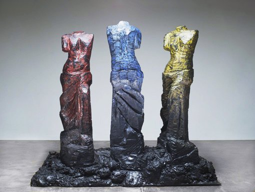 "JIM DINE Primary Ladies 2008 Painted bronze 63"" x 72"" x 33 ..."