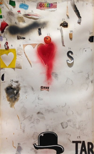 <h3><strong>JIM DINE</h3></strong><div><h3><strong><em>Untitled (Gossip)</h3></strong></em>