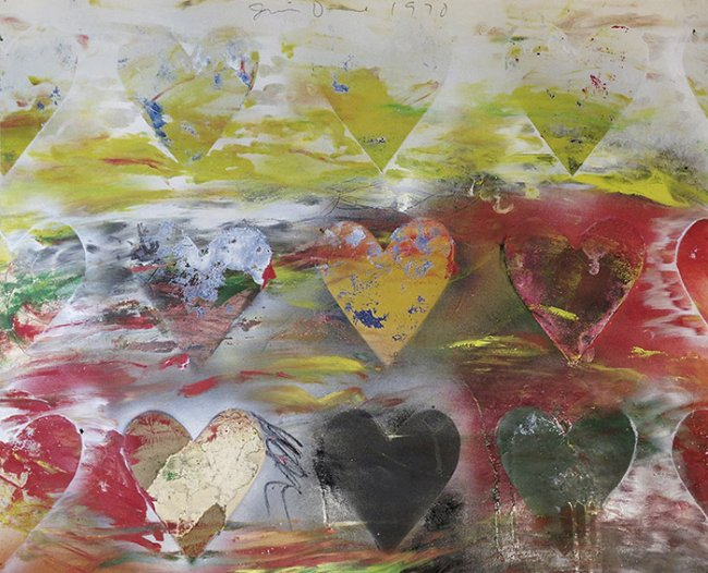 Jim Dine Hearts in Meadow