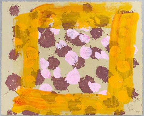 <h3><strong>HOWARD HODGKIN</h3></strong><div><h3><strong><em>Raspberry Crumble</h3></strong></em>