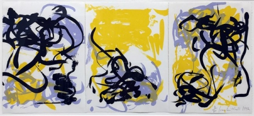 <h3><strong>JOAN MITCHELL</h3></strong><div><h3><strong><em>Little Weeds I (Yellow)</h3></strong></em>
