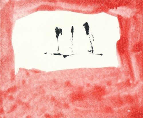 "<h3><strong>ROBERT MOTHERWELL</h3></strong><div><h3><strong><em>Untitled (Phoenician Red) (M-76-2823)</h3></strong></em><div>1976<br>Monotype<br> Sheet: 22-1/2"" x 20-1/8"" / 57.2 x 51.1 cm<br>Image: 9-3/4"" x 11-13/16"" / 24.8 x 30 cm<br><font color=""AAAAAA"">© 1976, Robert Motherwell / VAGA Rights, New York</font>"