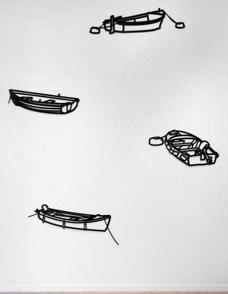 <h3><strong>JULIAN OPIE</h3></strong><div><h3><strong><em> Boat 3 / Boat 2 / Boat 4 / Boat 1</h3></strong></em>