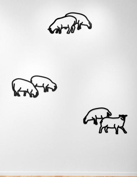 <h3><strong>JULIAN OPIE</h3></strong><div><h3><strong><em>Sheep 1 / Sheep 3 / Sheep 2</h3></strong></em>
