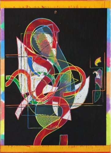 <h3><strong>FRANK STELLA</h3></strong><div><h3><strong><em>Pergusa Three</h3></strong></em>
