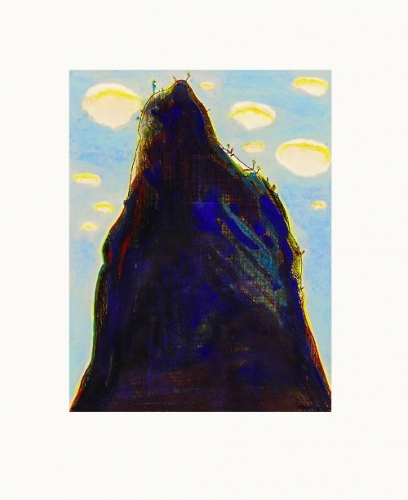 "<h3><strong>WAYNE THIEBAUD</h3></strong><div><h3><strong><em>Mountain Clouds</h3></strong></em><div>1964/1986<br>Watercolor over hard-ground and drypoint etching<br>Sheet: 15"" x 11"" / 38.1 x 27.9 cm<br>Image: 7"" x 5-3/8"" / 17.8 x 13.7 cm<br><font color=""AAAAAA"">© 1964/1986, Wayne Thiebaud / VAGA Rights, New York</font><br><a href=""http://novakart.com/important-works-on-paper/wayne-thiebaud-mountain-clouds/"">Click here for more information"