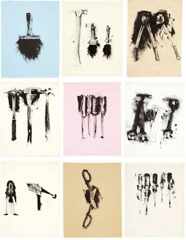 Jim Dine Tools Portfolio Print