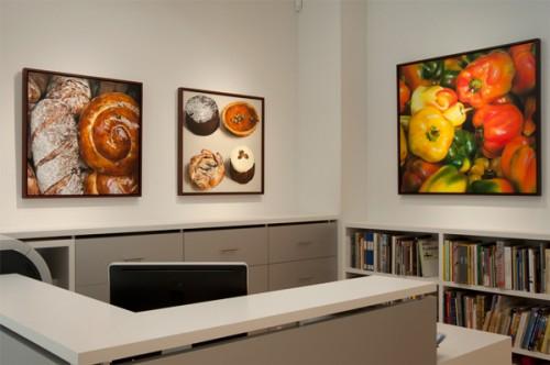 Ben Schonzeit photorealism, bread, payard, peppers