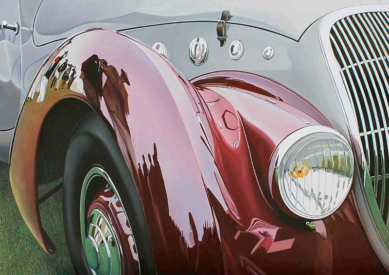 Cheryl Kelley - Red and Grey Delahaye
