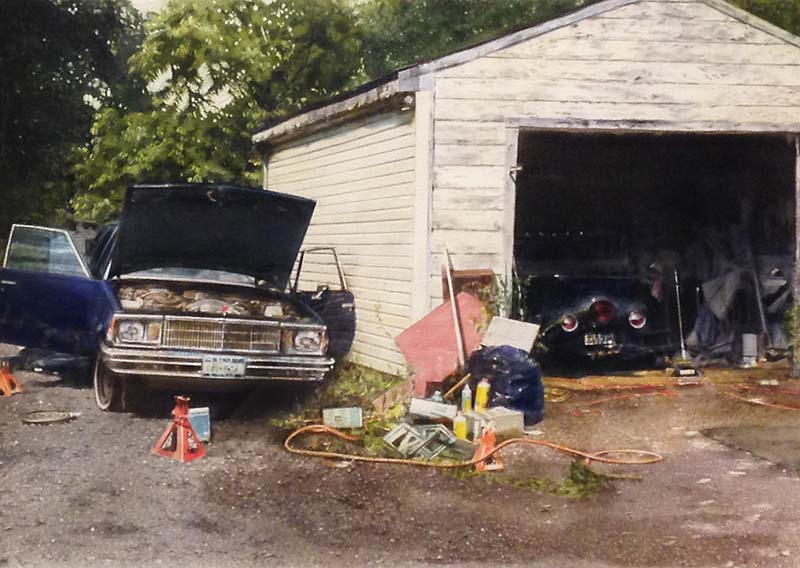 John Salt - Sedan with White Garage