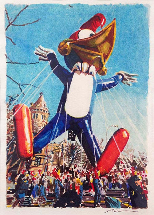 Ron Kleemann Macy's Day Parade Watercolor Painting
