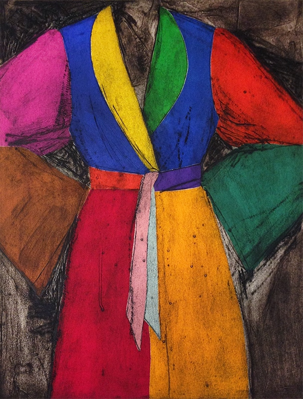 Bold Colors Jim Dine Robe Print