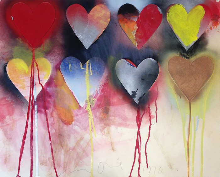 Jim Dine Heart Collage Hope