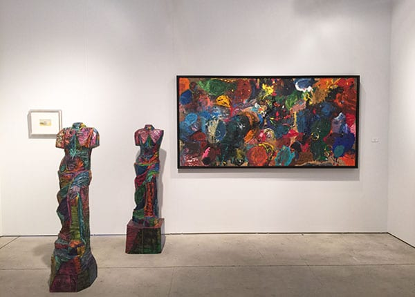 Art Miami 2015 - Jonathan Novak Contemporary Art - Jim Dine abstract canvas - Jim Dine venus sculptures
