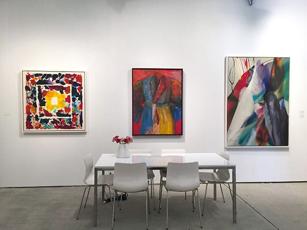 Art Miami 2015 - Jonathan Novak Contemporary Art - Sam Francis canvas - Jim Dine robe - Paul Jenkins canvas