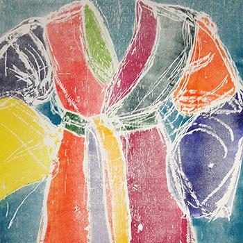 Jim Dine Robe Print Multicolored Thumbnail