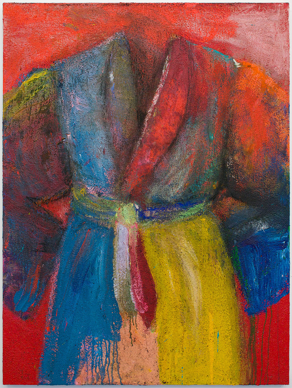 Jim Dine Robe Painting Yellow Red Blue