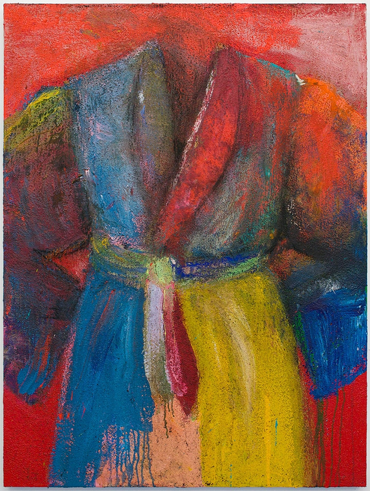Jim Dine Robe Painting Red Yellow Blue