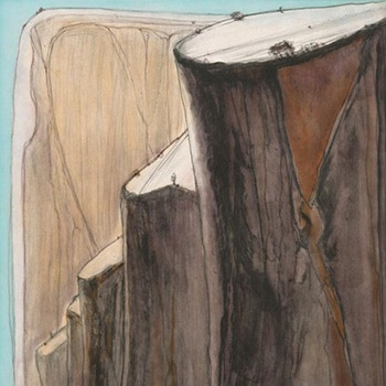 Wayne Thiebaud Print of Canyon Thumbnail