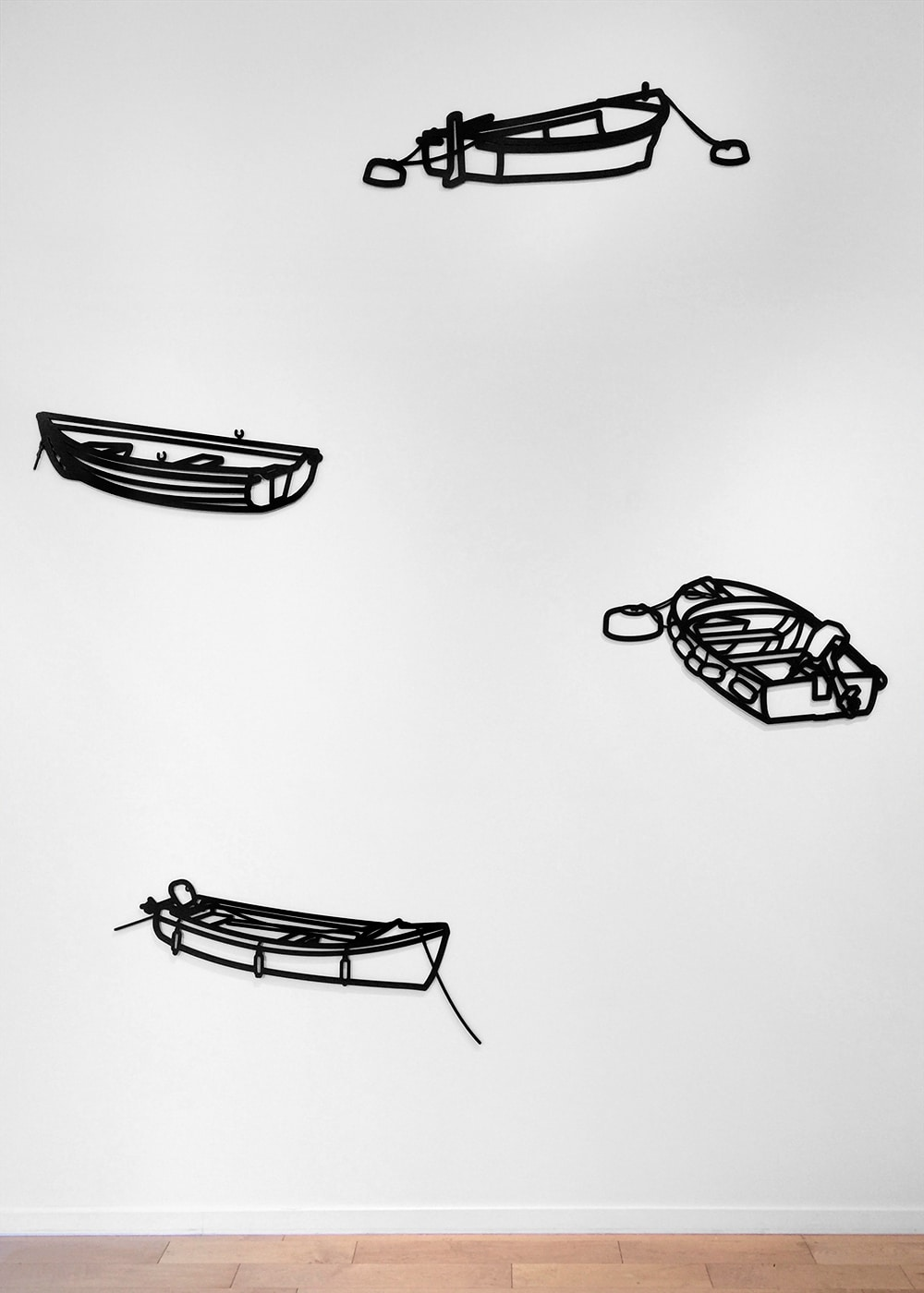 Julian Opie Wall Sculptures of Boats