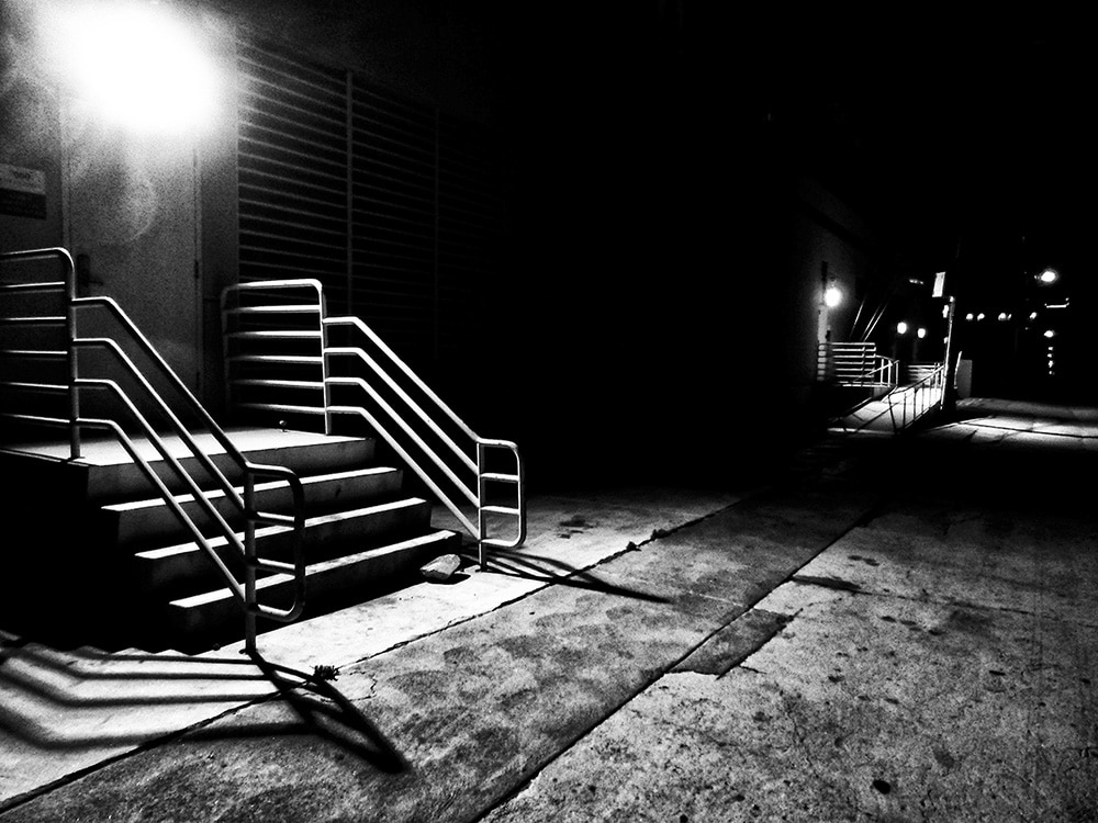 Daido Moriyama Black and White Photograph of Alley Way