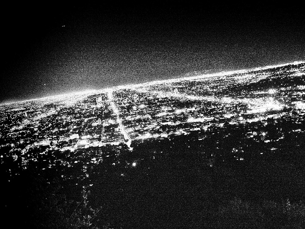 Daido Moriyama Black and White Photograph of LA at Night