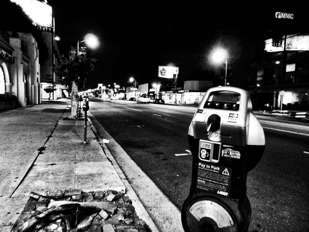 Daido Moriyama Black and White Photograph of Street Meter