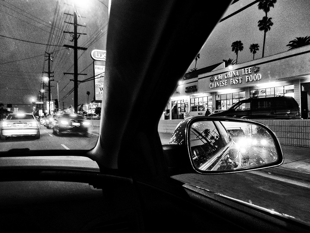 Daido Moriyama Black and White Photograph from Passenger Seat of Car