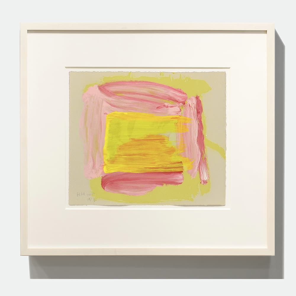 Framed Howard Hodgkin Print Yellow Pink