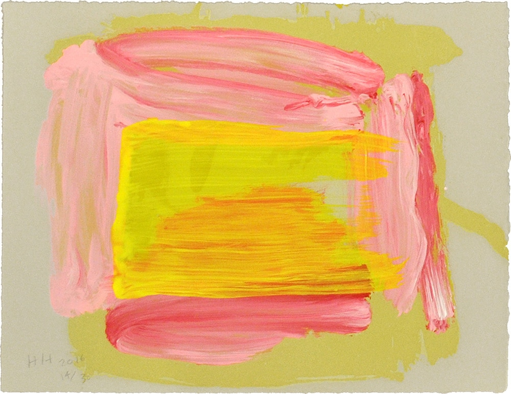 Abstract Howard Hodgkin Print Yellow Pink