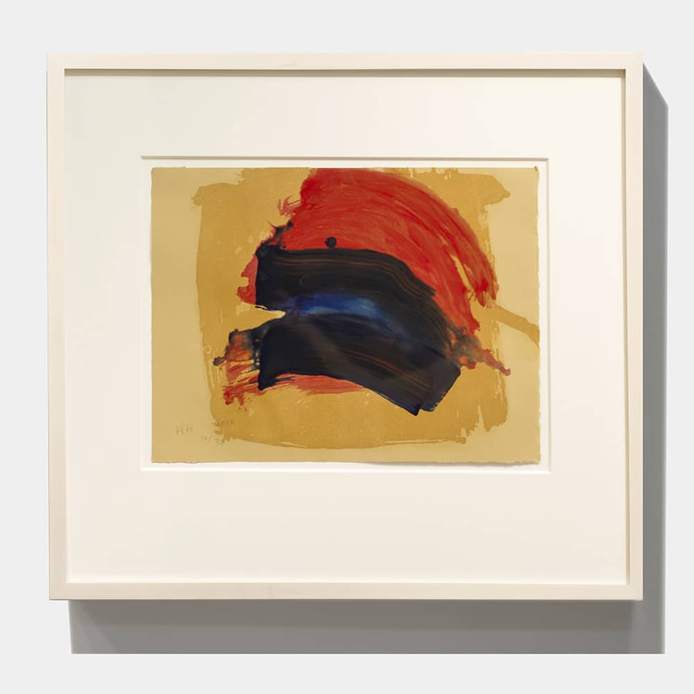 Framed Howard Hodgkin Abstract Print Blue Red