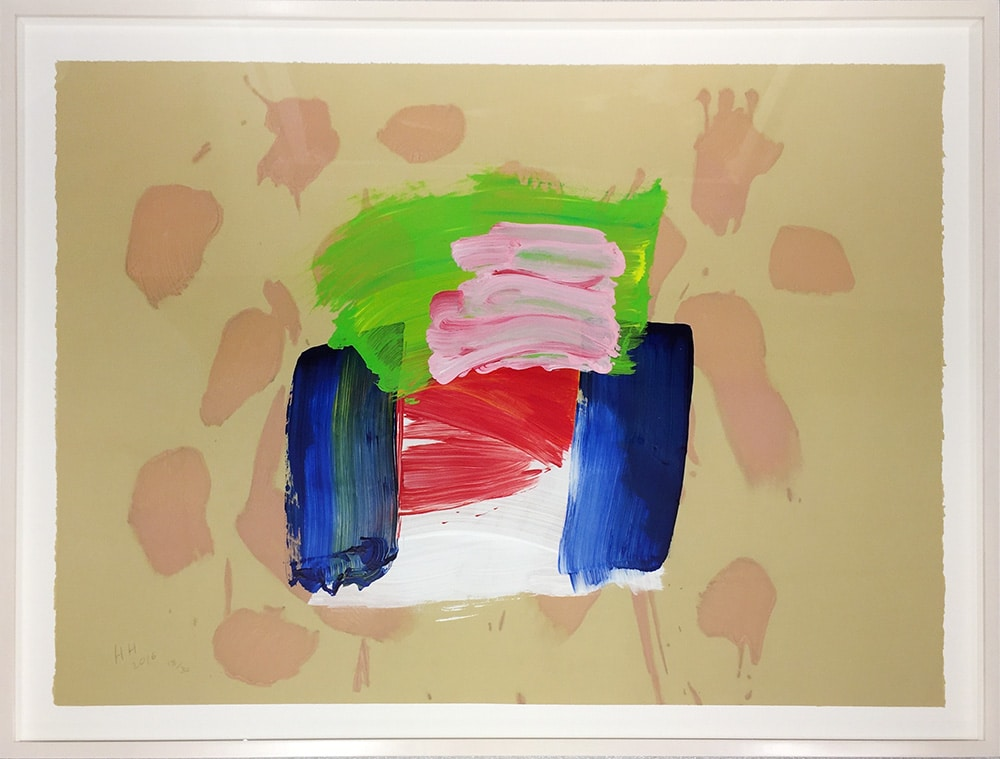 Howard Hodgkin - Ice Cream Hand-Painted Etching Framed Jonathan Novak Contemporary Art Gallery Los Angeles Web