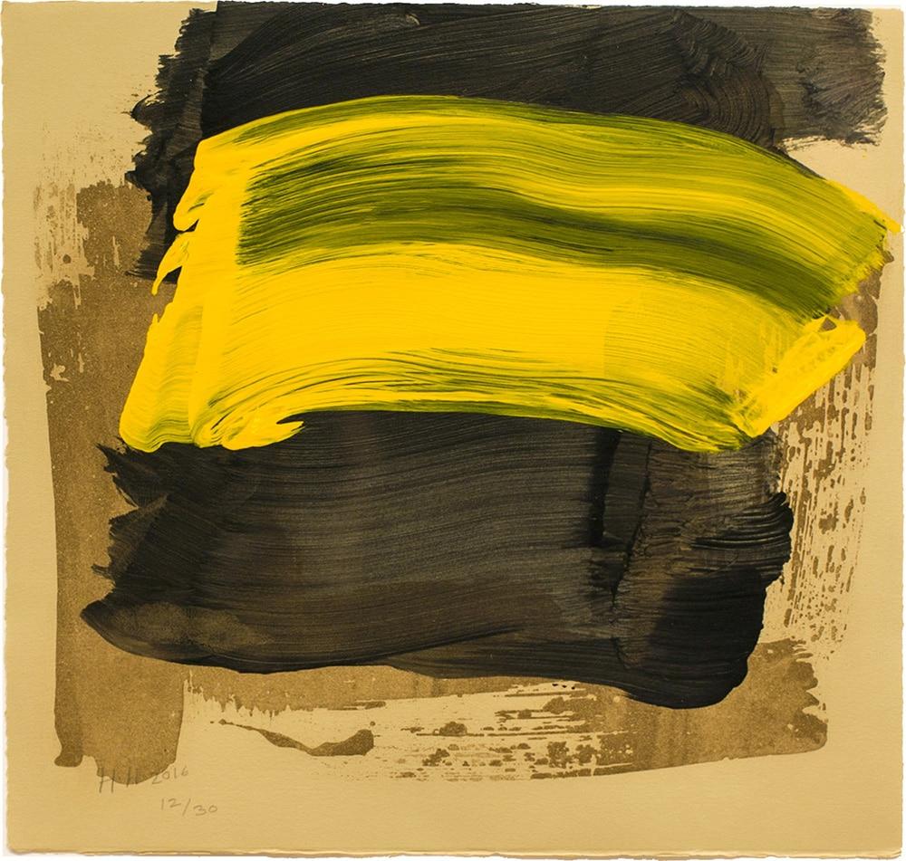 Howard Hodgkin Print Black Yellow