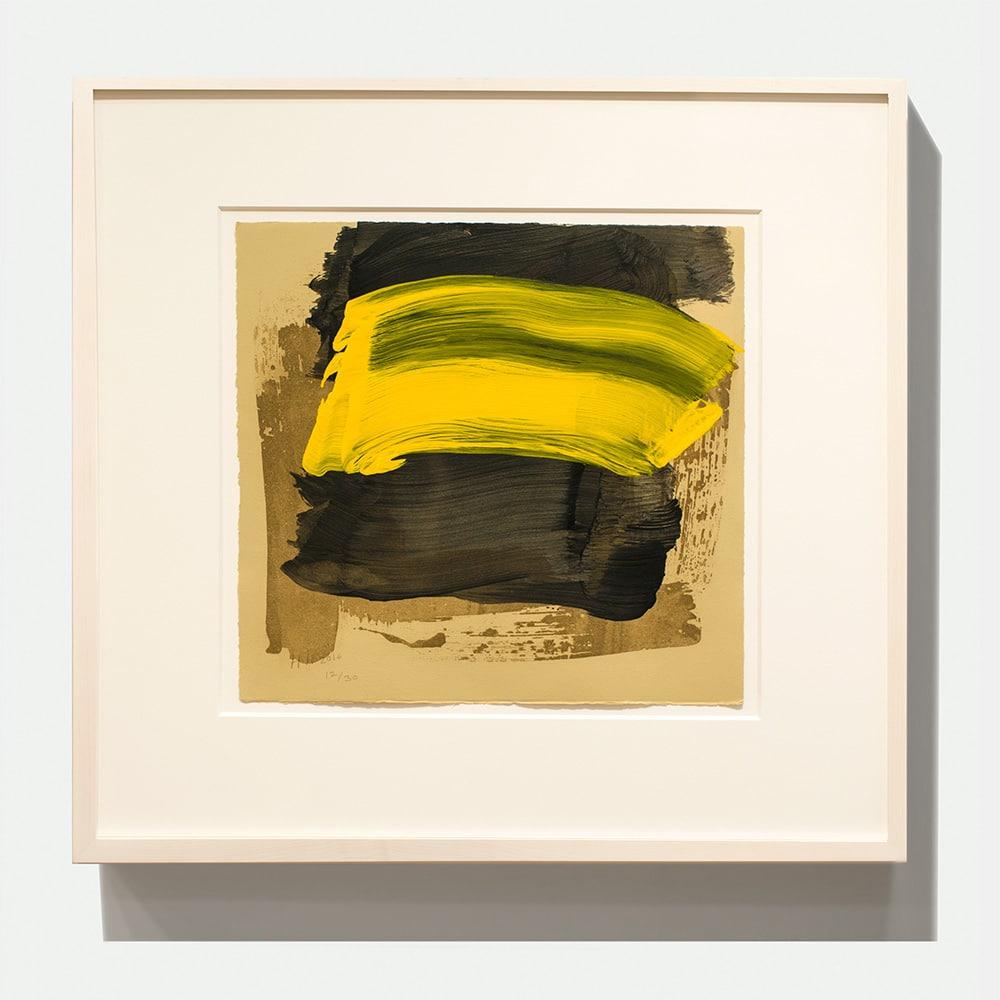 Framed Howard Hodgkin Print Black Yellow