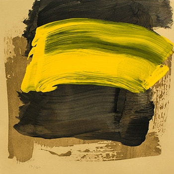 Howard Hodgkin Abstract Print Yellow Black