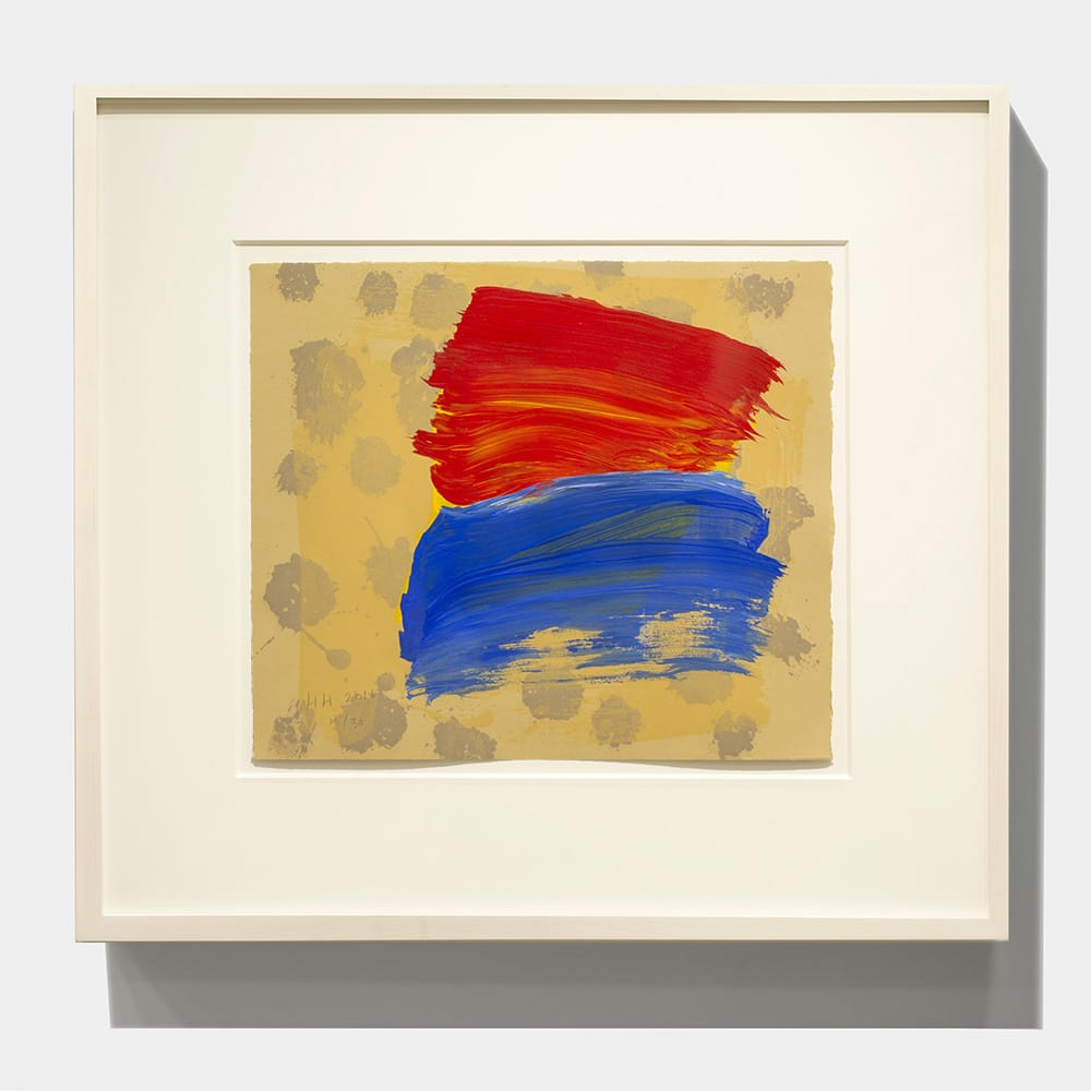 Framed Howard Hodgkin Print Blue Red With Dots