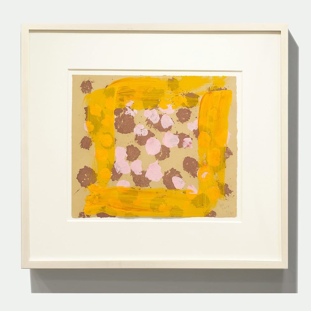 Framed Howard Hodgkin Print Yellow Red Pink