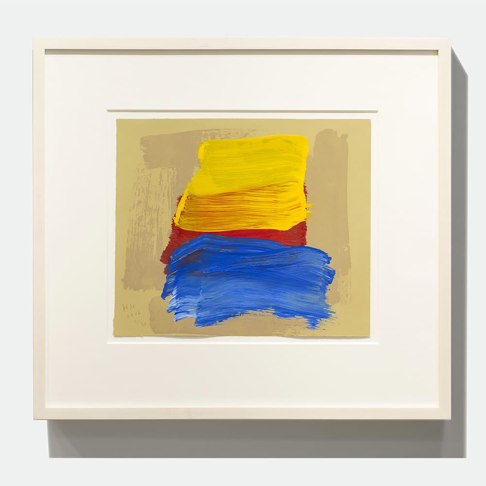 Framed Howard Hodgkin Print Yellow Red Blue