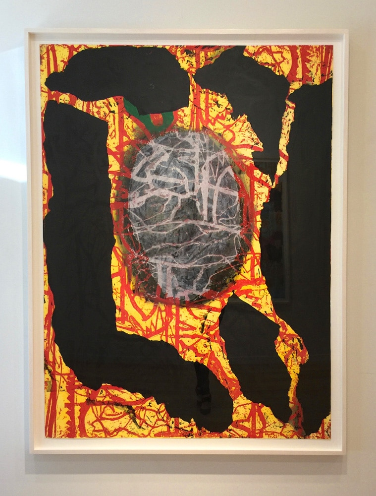 Abstract Jim Dine Print Yellow Black