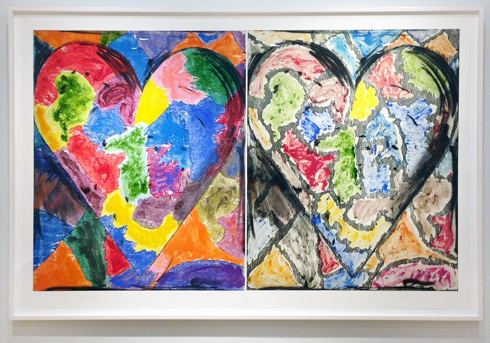 Framed Print of Colorful Jim Dine Hearts