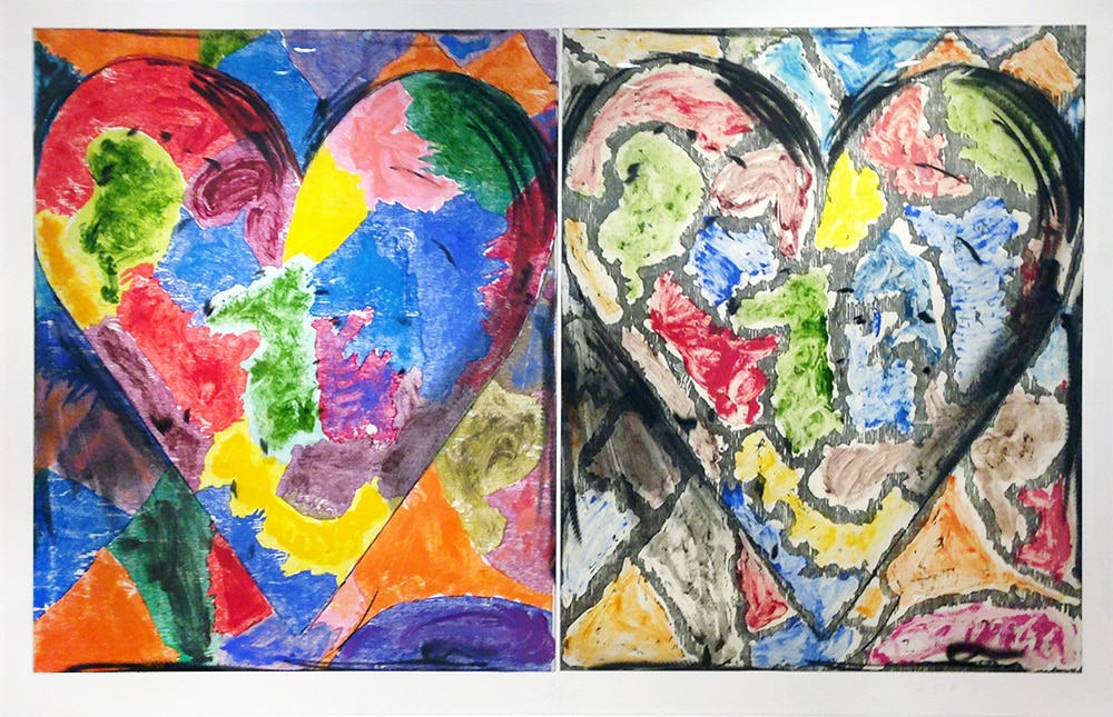 Print of Colorful Jim Dine Hearts
