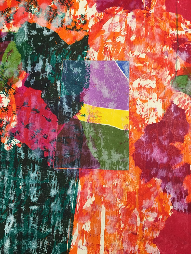 Abstract Jim Dine Print Closeup on Texture