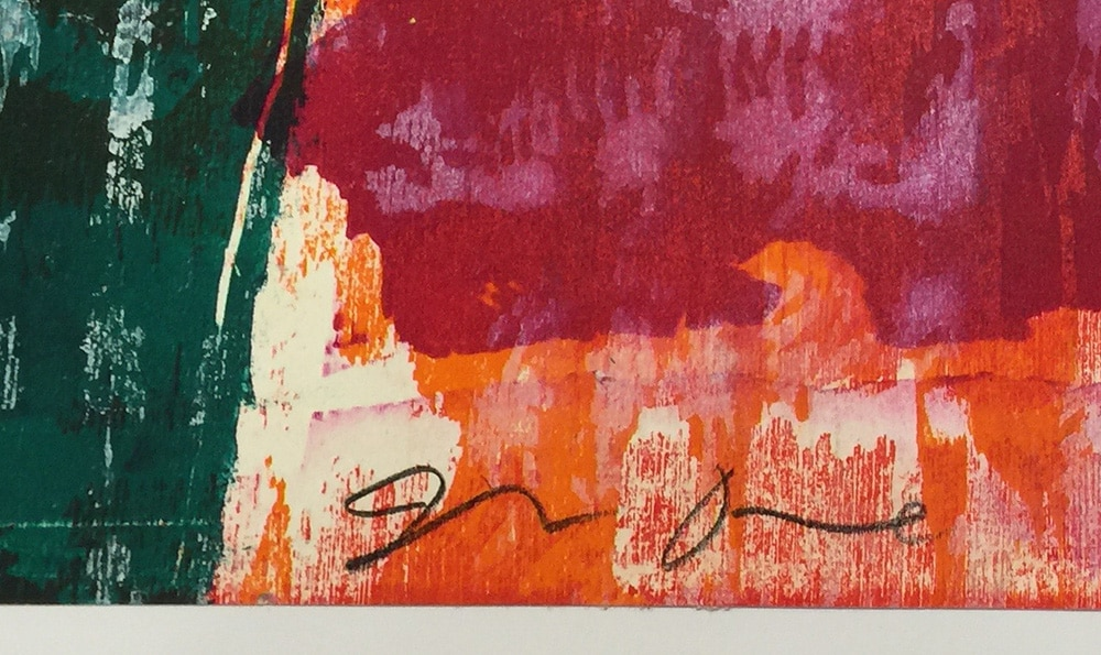 Jim Dine Signature on Abstract Print