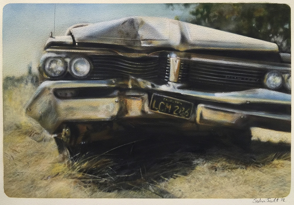 Destroyed Car Painting by John Salt