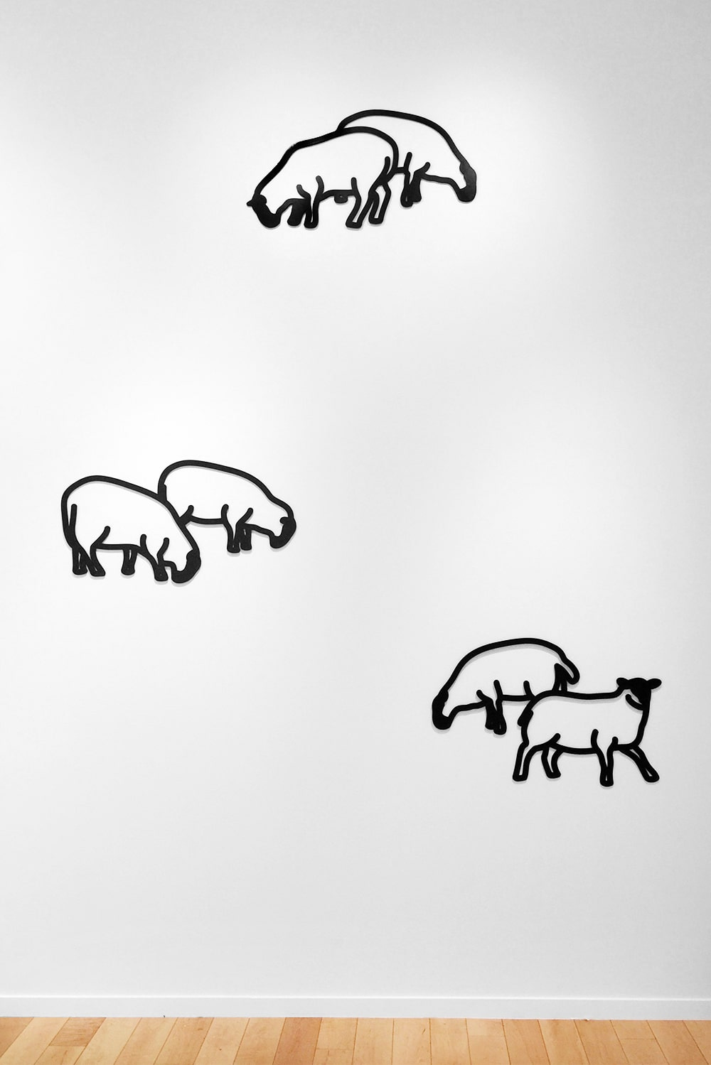 Julian Opie Wall Sculptures of Sheep