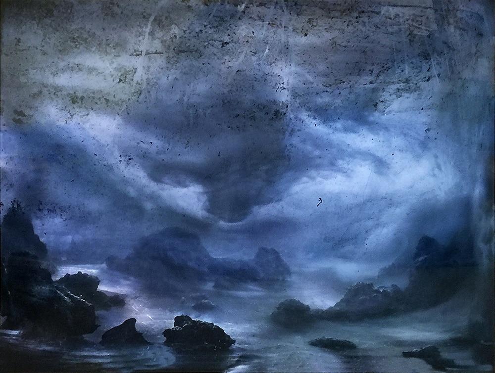 Kim Keever Print of Dramatic Blue Ocean Landscape