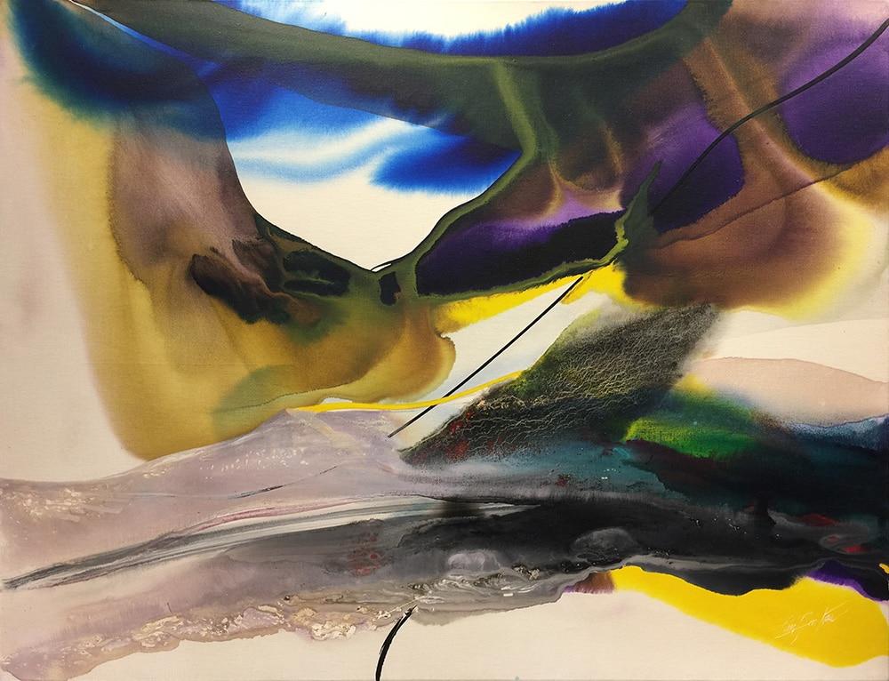 Paul Jenkins Art Abstract Painting