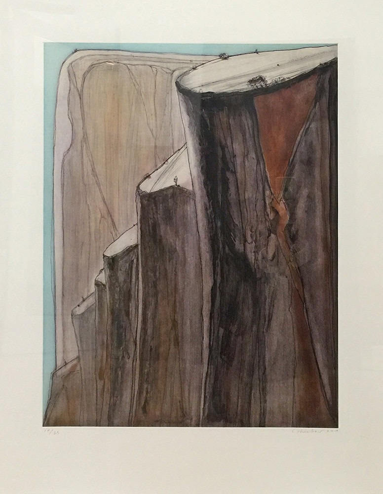 Wayne Thiebaud - Canyon Bluffs