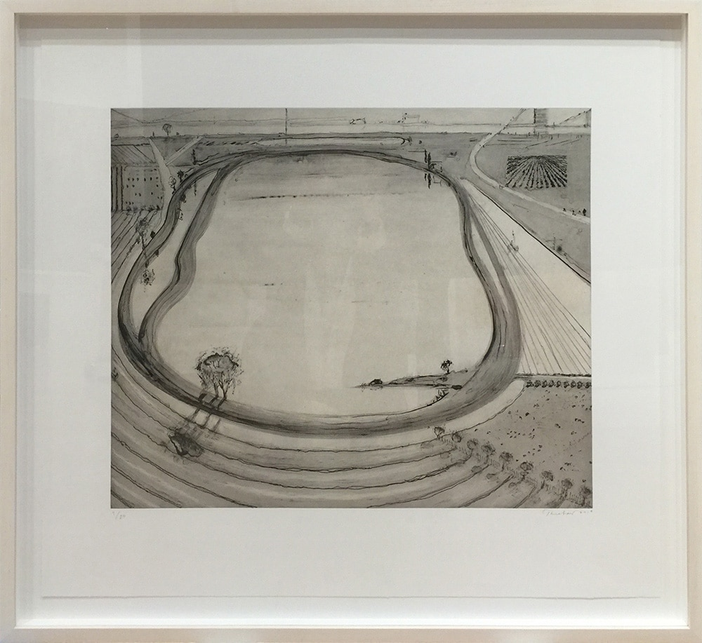 Wayne Thiebaud Black and White Print of Reservoir