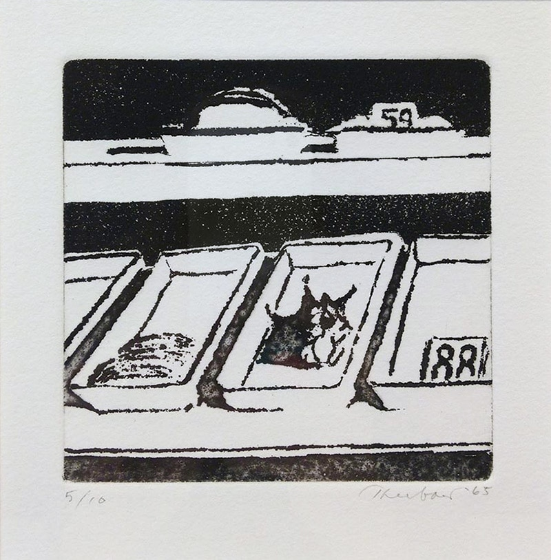 Black and White Wayne Thiebaud Print of Delicatessen